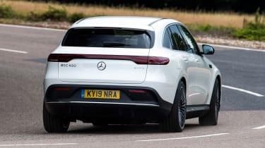 Mercedes EQC SUV rear cornering
