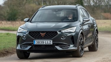 Cupra Formentor SUV review front 3/4 cornering