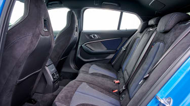 BMW M135i rear seats