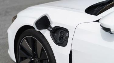 Audi e-tron GT saloon charging flap