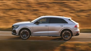 Audi RS Q8 SUV - side on view dynamic
