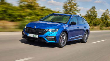 2020 Skoda Octavia vRS iV Estate driving on motorway