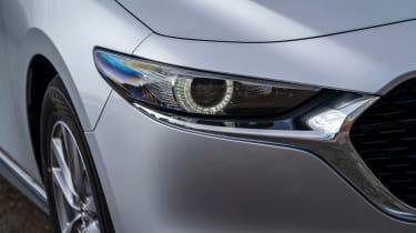 Mazda3 Fastback saloon headlights