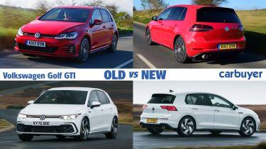 Volkswagen Golf GTI old vs new header