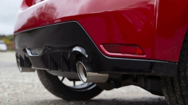 Toyota GR Yaris hatchback tailpipes