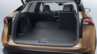 Nissan Ariya boot with seat folded