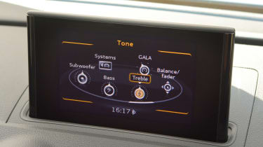 The entry-level SE trim gets a seven-inch infotainment screen which rises from the dashboard