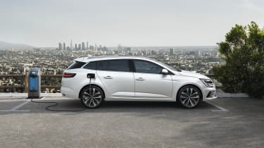 2020 Renault Megane E-Tech estate - side view