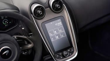 McLaren 600LT Spider convertible infotainment