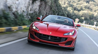 The Ferrari Portofino is the successor to the Ferrari California, with a folding hard-top roof