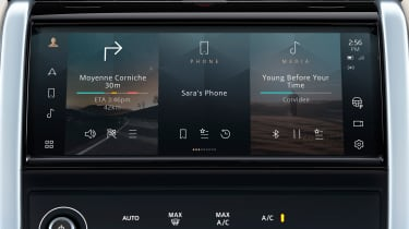 2020 Land Rover Discovery Sport screen - layout