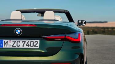 2020 BMW 4 Series Convertible rear end detail