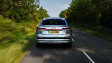 Audi e-tron Sportback SUV rear driving