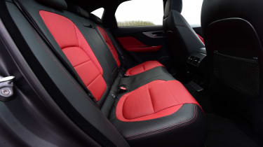 As is this red and black leather combination