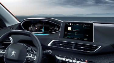 Advanced display technology is used in the Peugeot 3008's i-Cockpit instrument cluster