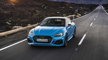 2020 Audi RS5 Coupe - front 3/4 dynamic view