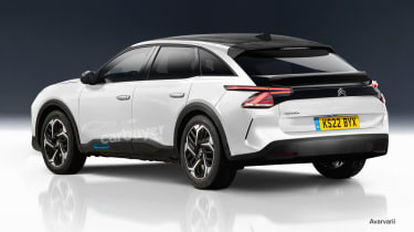 New Citroen crossover preview - rear
