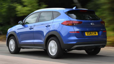 2018 Hyundai Tucson SUV - dynamic rear 3/4 view