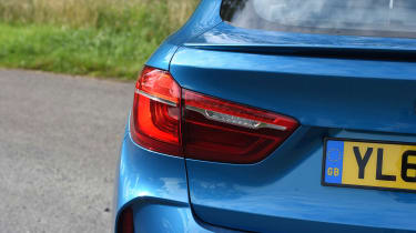 The X6 M also features LED tail-lights, along with quad exhaust pipes