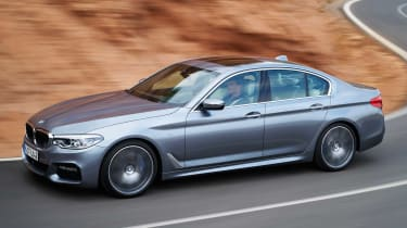 The 5 Series is quiet and comfortable on the motorway, yet also manages to be hugely engaging on smaller roads