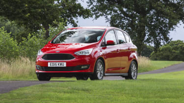 The Ford C-MAX is a five-seat MPV that shares many components with the Ford Focus