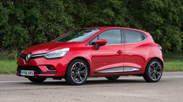 The Clio's designers have cleverly hidden the rear door handles, so it looks sporty despite being a five-door