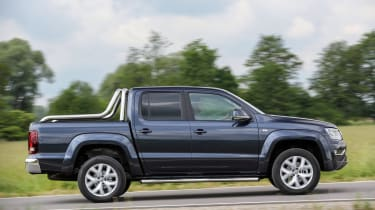 The Amarok has a pickup load bed and five-seat interior