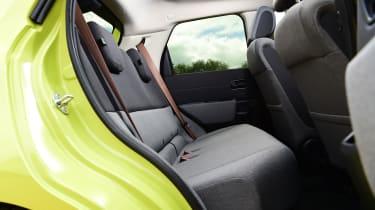 Honda e hatchback rear seats
