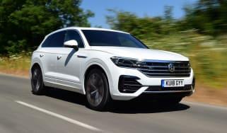 White VW Touareg