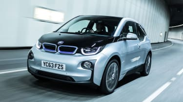 The BMW i3 is a striking looking small hatchback that's made from carbon fibre