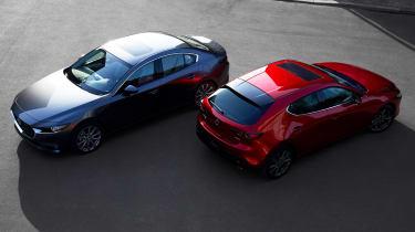 2019 Mazda3 hatchback and saloon