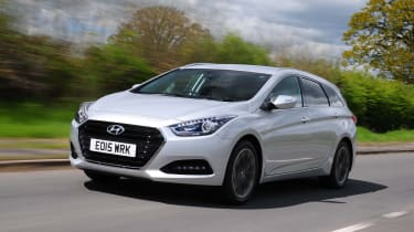 The i40 Tourer was designed as an estate from the ground up and so looks quite smart