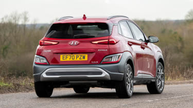 Hyundai Kona Hybrid SUV rear cornering