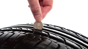 Checking tyre tread depth