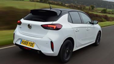 Vauxhall Corsa hatchback rear 3/4 tracking