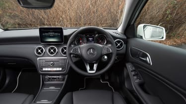 The A-Class also gets a smart interior, with nice materials and clear links to more expensive models