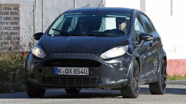 The disguised new Ford Fiesta prototype gave big clues towards its final appearance