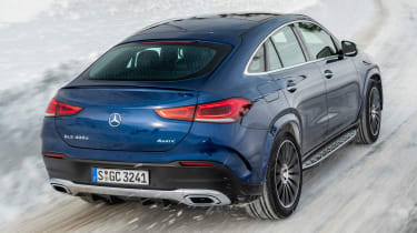 Mercedes GLE Coupe SUV rear 3/4 tracking