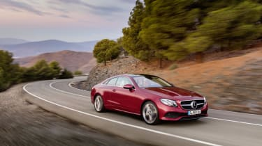 The 2017 Mercedes E-Class Coupe is based on the saloon, but looks swish and distinctive enough in its own right