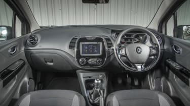 The Captur feels good inside, with a smartly designed dashboard
