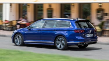 Volkswagen Passat Estate R-Line rear 3/4 action