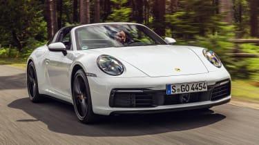 Porsche 911 Targa front 3/4 action
