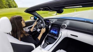 2021 Mercedes SL roadster interior