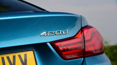 BMW 420d M Sport badge
