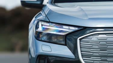 Audi Q4 e-tron SUV headlights