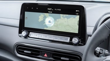 Hyundai Kona Electric SUV infotainment display
