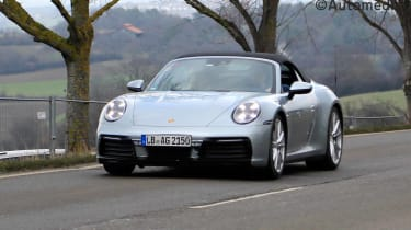 2019 Porsche 911 (992) Cabriolet front view