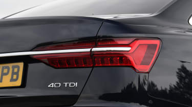 Audi A6 saloon rear lights