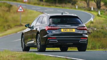 Audi A6 Avant driving - rear view