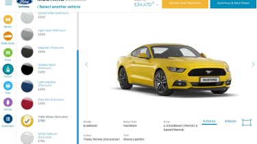 Ford configurator mustang